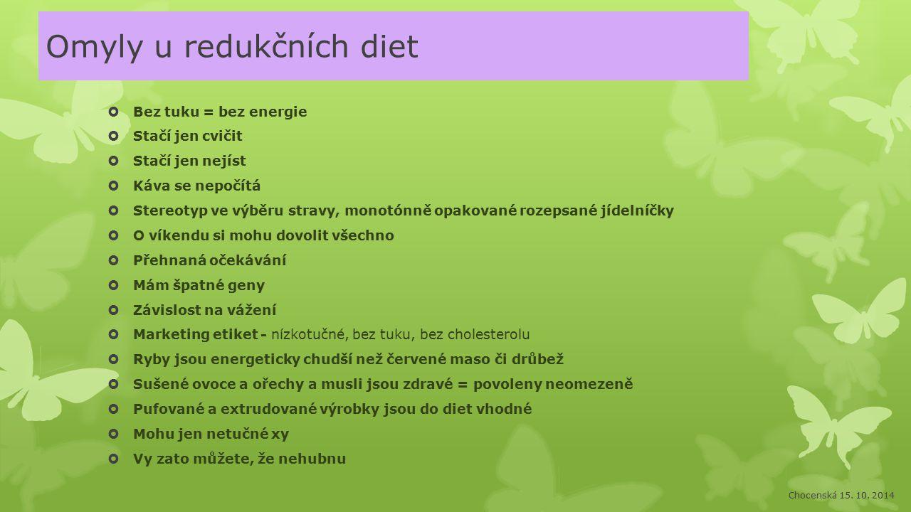 Omyly u redukčních diet