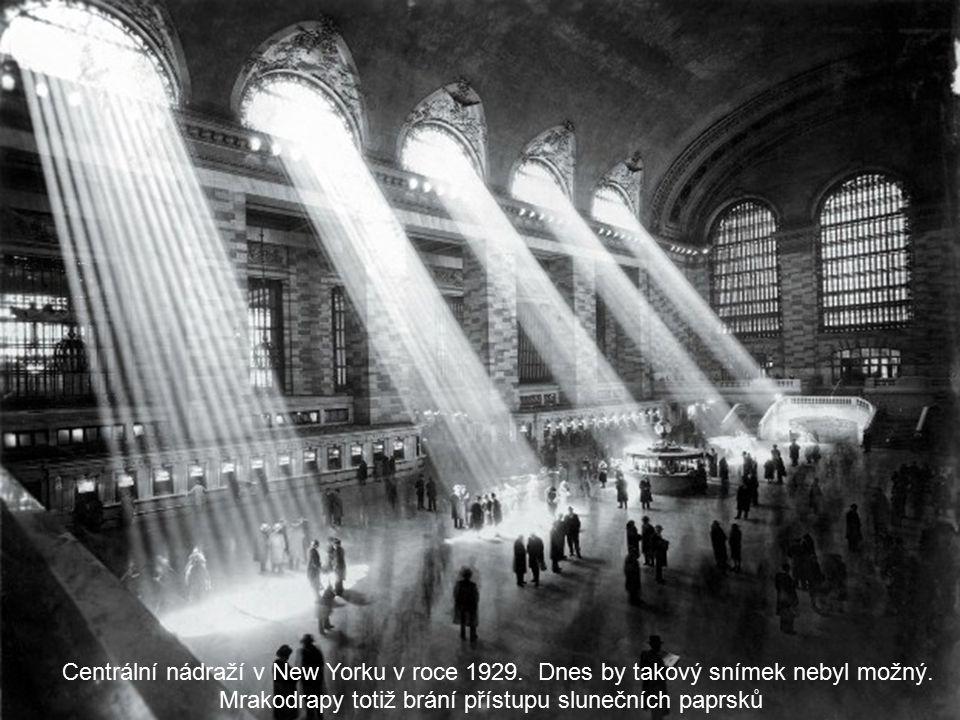 Centrální nádraží v New Yorku v roce 1929