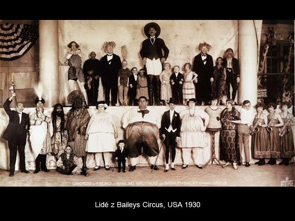 Lidé z Baileys Circus, USA 1930