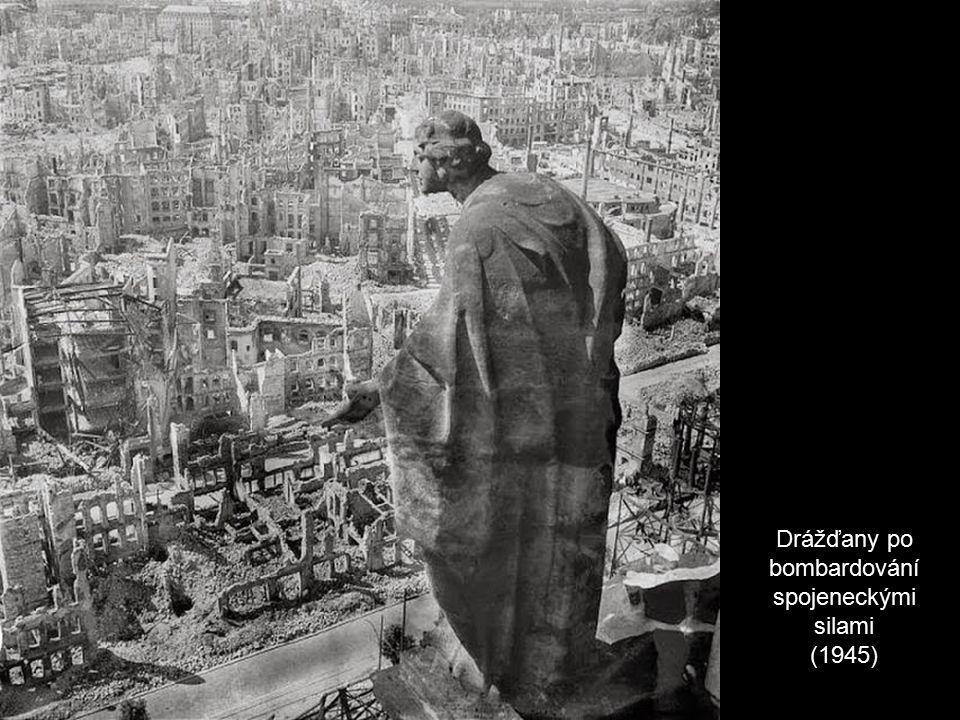 Drážďany po bombardování spojeneckými silami (1945)