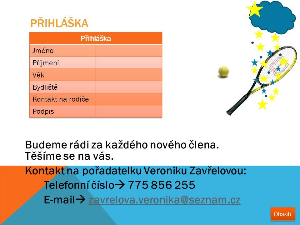 Kontakt na pořadatelku Veroniku Zavřelovou: