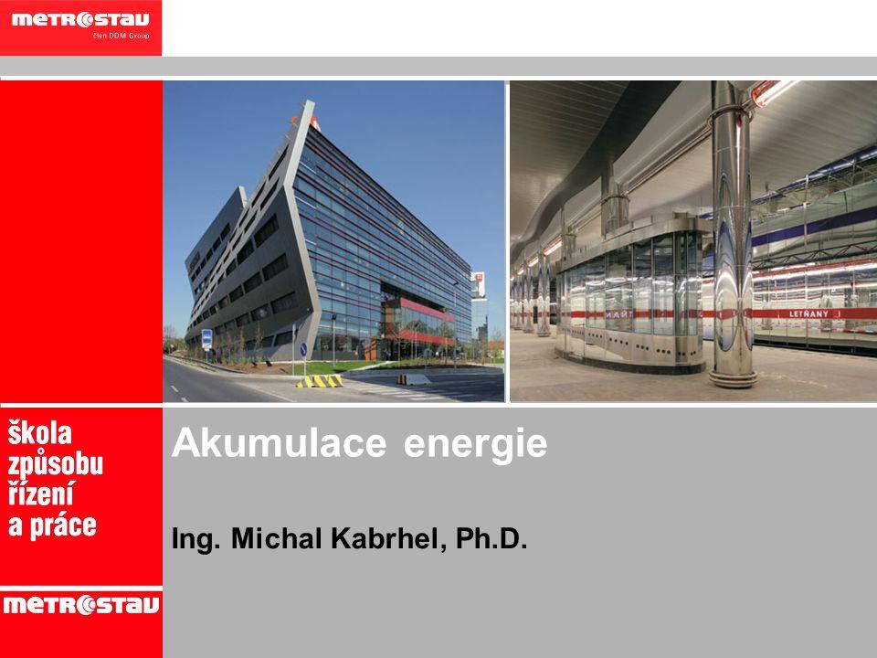 Akumulace energie Ing. Michal Kabrhel, Ph.D. 1