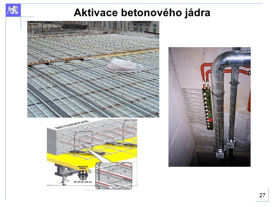 Aktivace betonového jádra