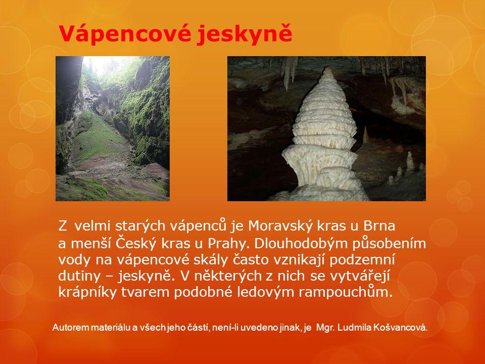 Vápencové jeskyně