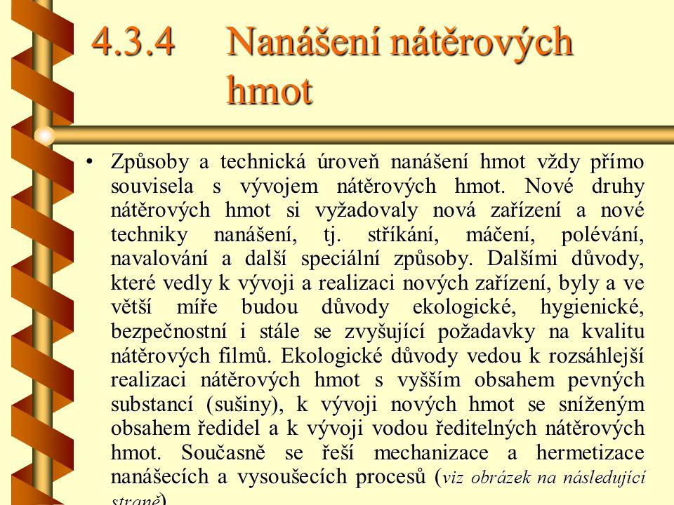 4.3.4 Nanášení nátěrových hmot