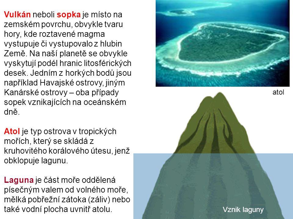 Vulkán neboli sopka je místo na zemském povrchu, obvykle tvaru hory, kde roztavené magma vystupuje či vystupovalo z hlubin Země. Na naší planetě se obvykle vyskytují podél hranic litosférických desek. Jedním z horkých bodů jsou například Havajské ostrovy, jiným Kanárské ostrovy – oba případy sopek vznikajících na oceánském dně.