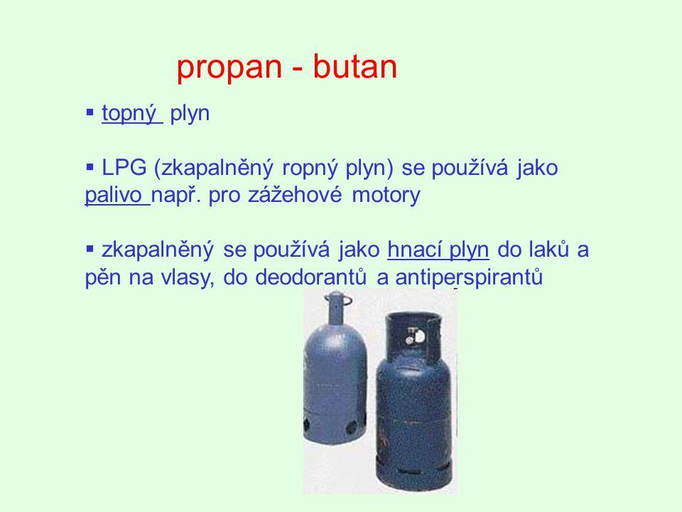 propan - butan topný plyn