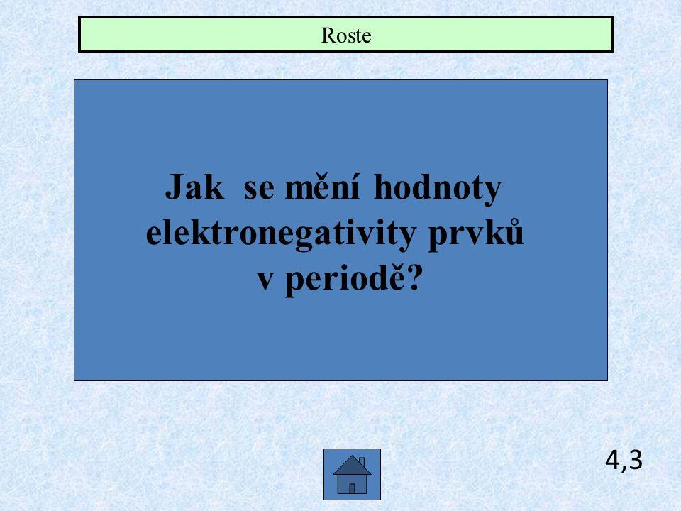 elektronegativity prvků