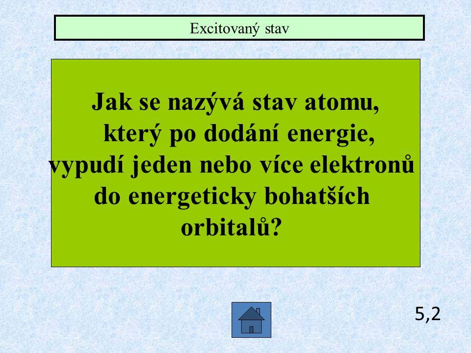 Jak se nazývá stav atomu, který po dodání energie,
