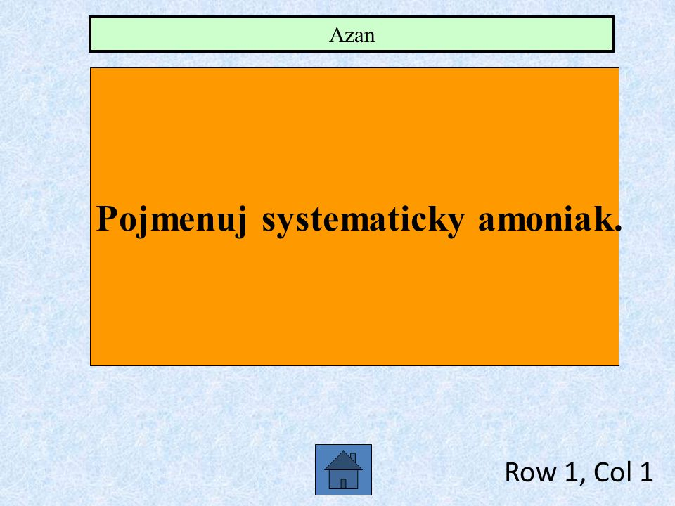 Pojmenuj systematicky amoniak.
