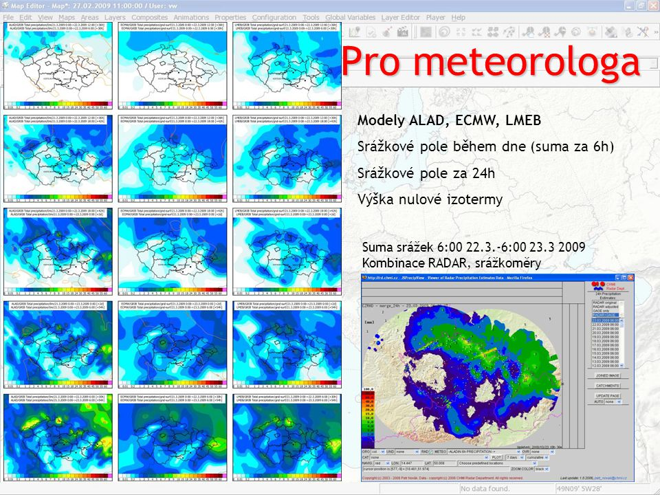 Pro meteorologa Modely ALAD, ECMW, LMEB