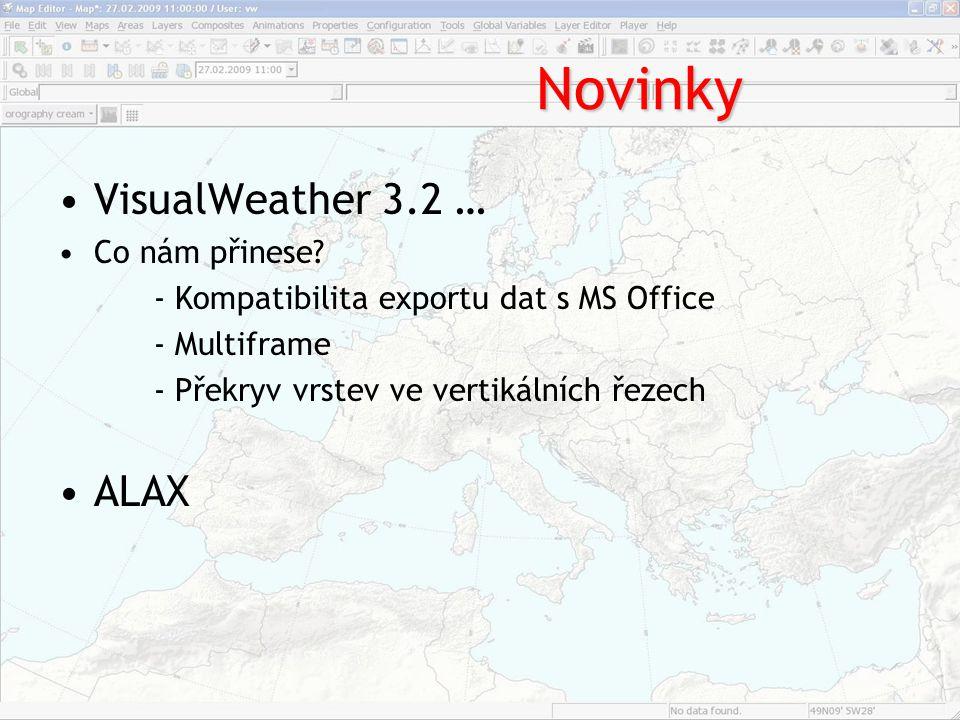 Novinky VisualWeather 3.2 … ALAX Co nám přinese