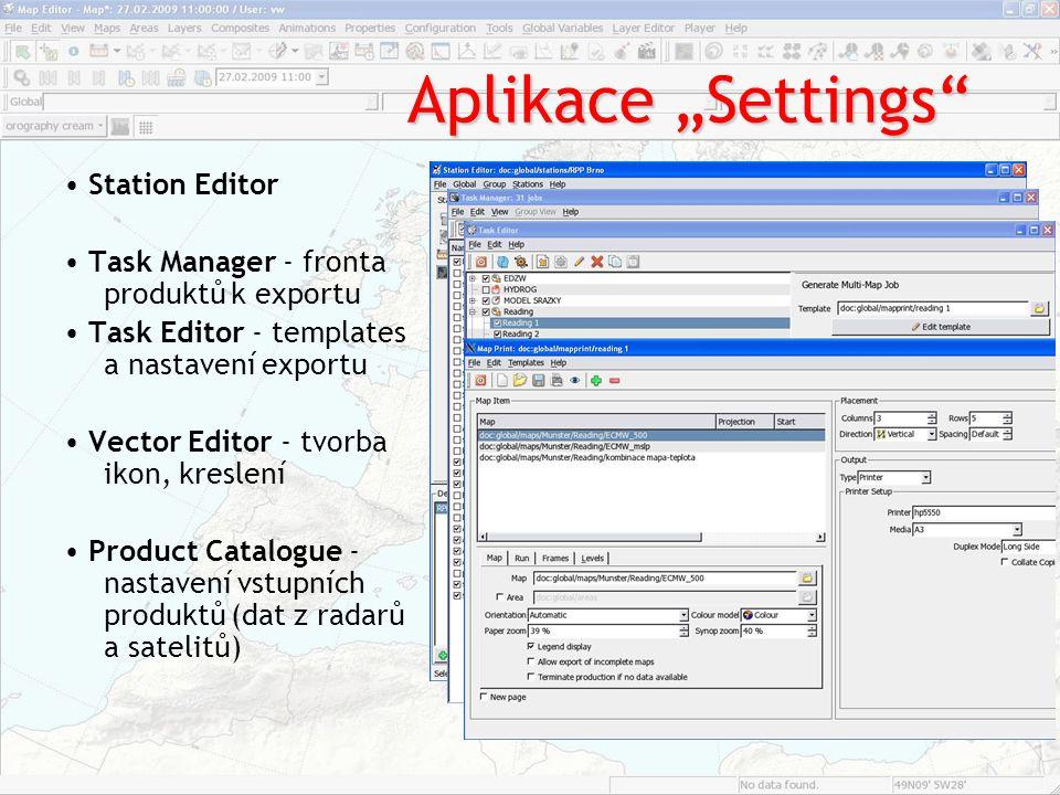 """Aplikace """"Settings • Station Editor"""