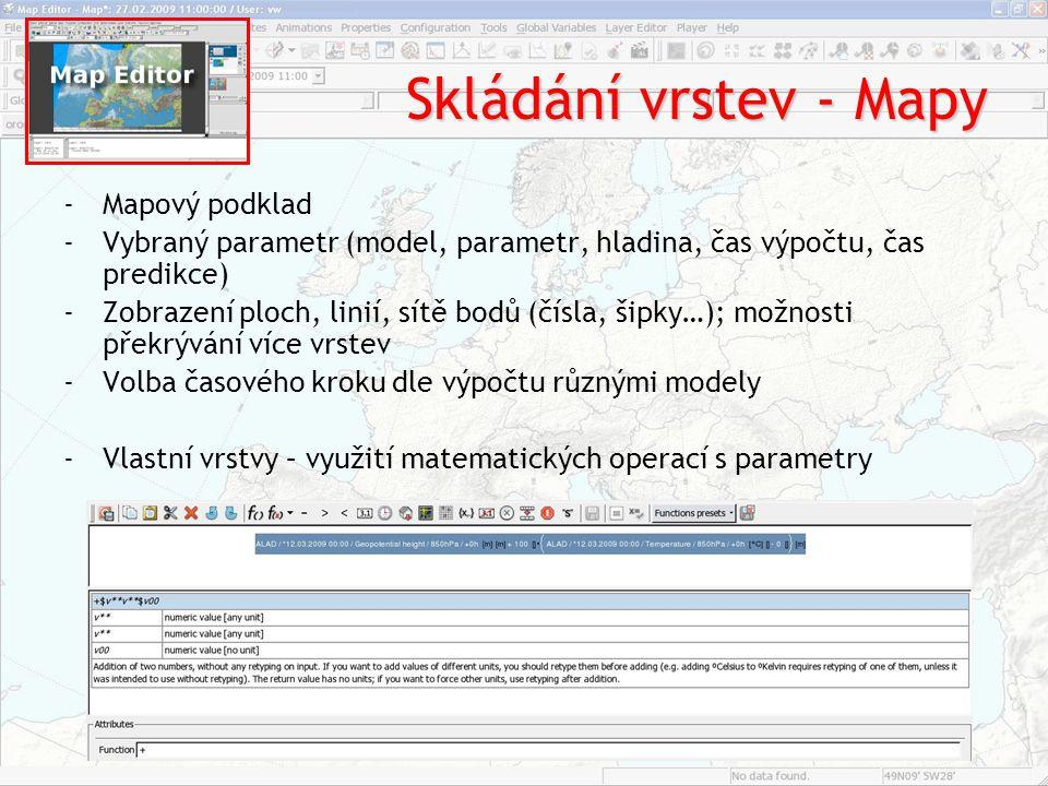 Skládání vrstev - Mapy Mapový podklad