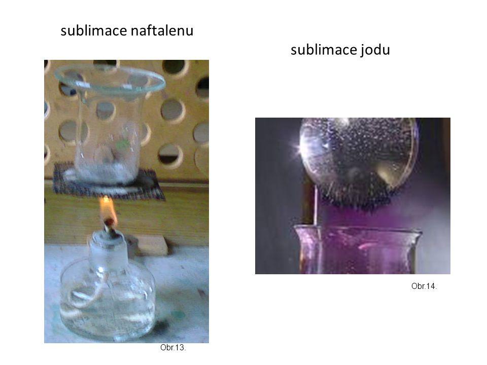 sublimace naftalenu sublimace jodu Obr.14. Obr.13.