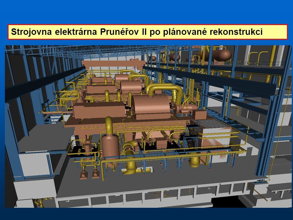 Strojovna elektrárna Prunéřov II po plánované rekonstrukci