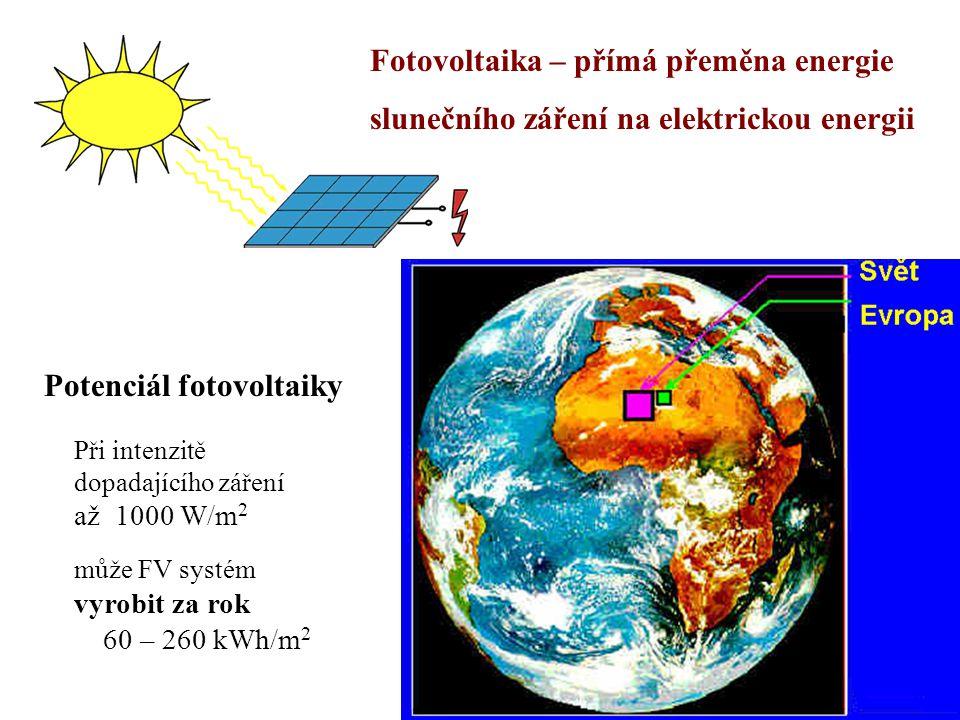 Fotovoltaika – přímá přeměna energie