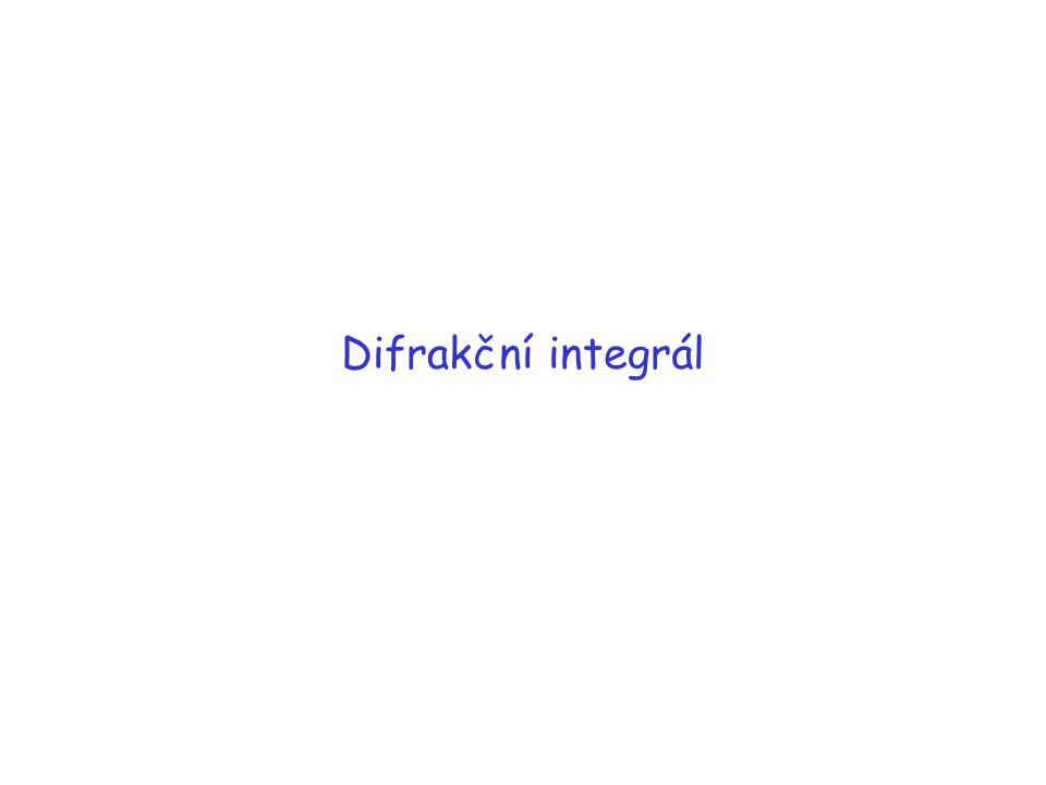 Difrakční integrál