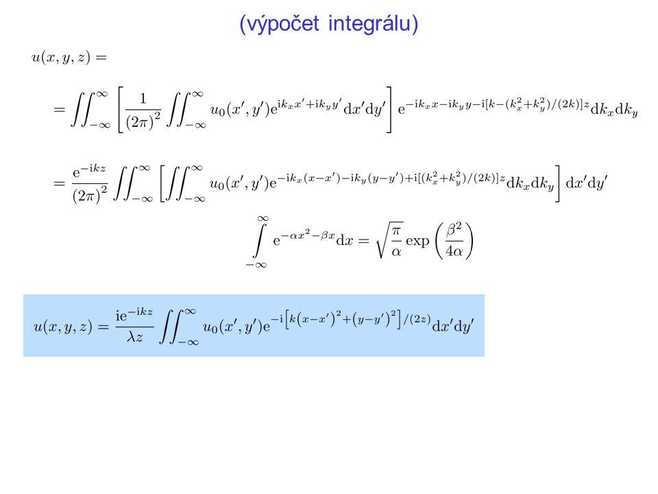 (výpočet integrálu)