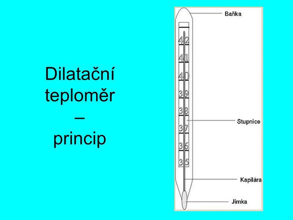 Dilatační teploměr – princip
