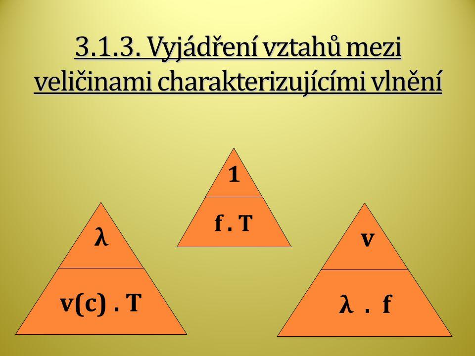 3.1.3. Vyjádření vztahů mezi veličinami charakterizujícími vlnění