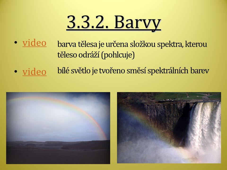 3.3.2. Barvy video.