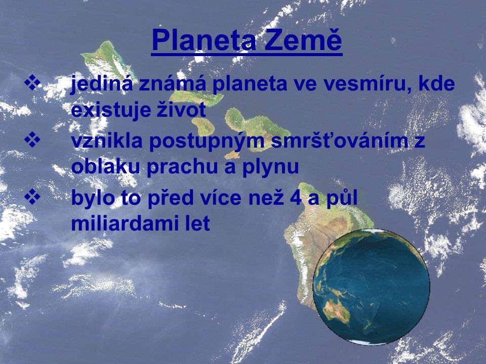 Planeta Země jediná známá planeta ve vesmíru, kde existuje život