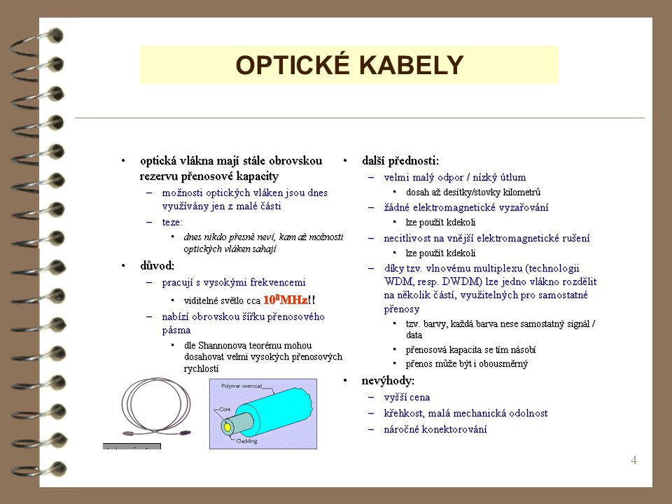 OPTICKÉ KABELY (c) Tralvex Yeap. All Rights Reserved