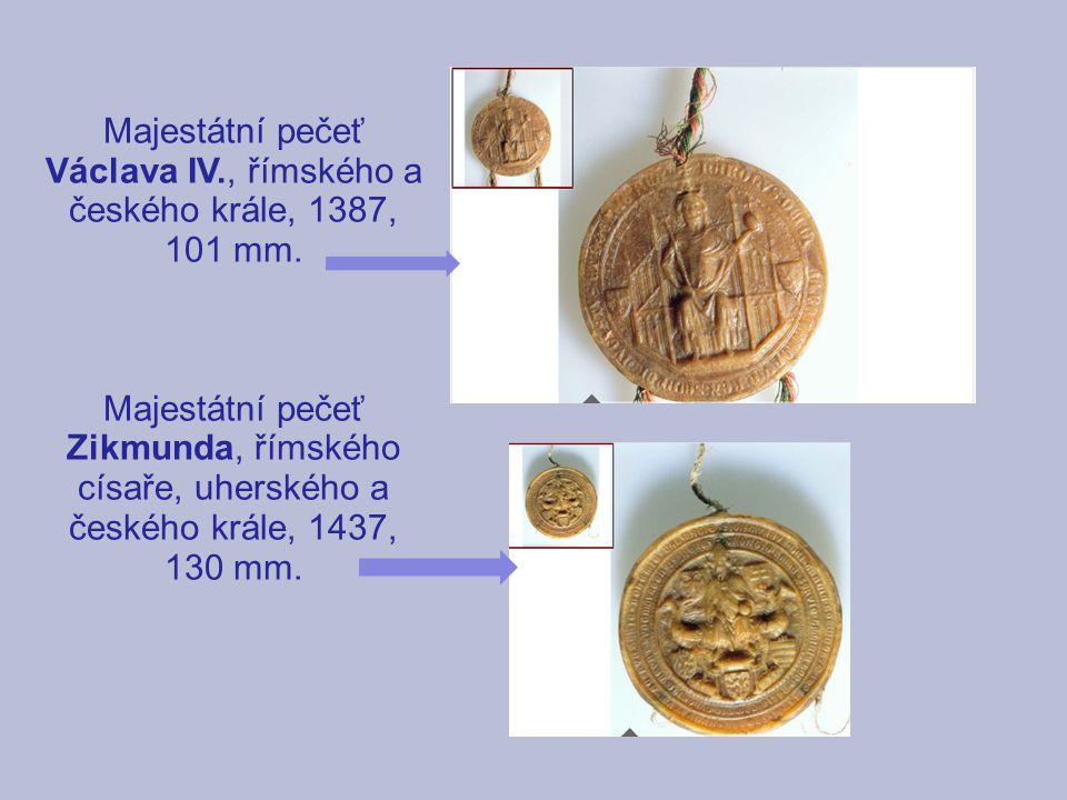 Majestátní pečeť Václava IV., římského a českého krále, 1387, 101 mm.