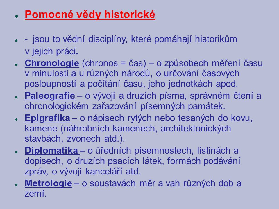 Pomocné vědy historické