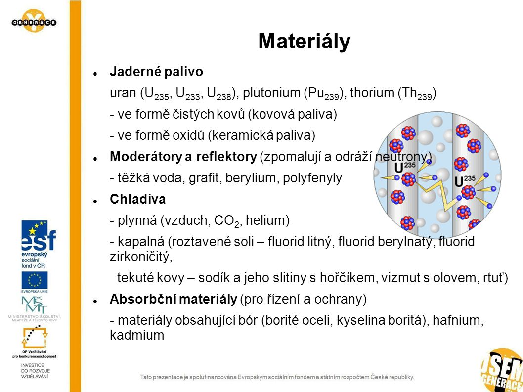 Materiály Jaderné palivo