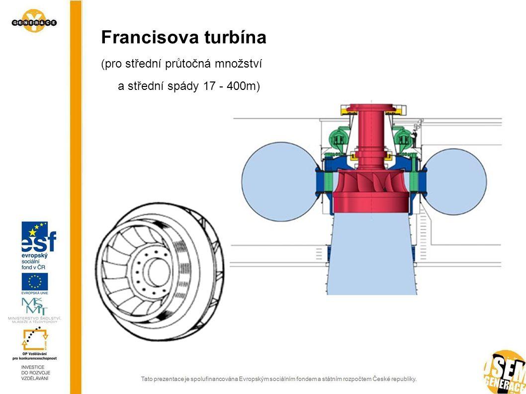 Francisova turbína (pro střední průtočná množství