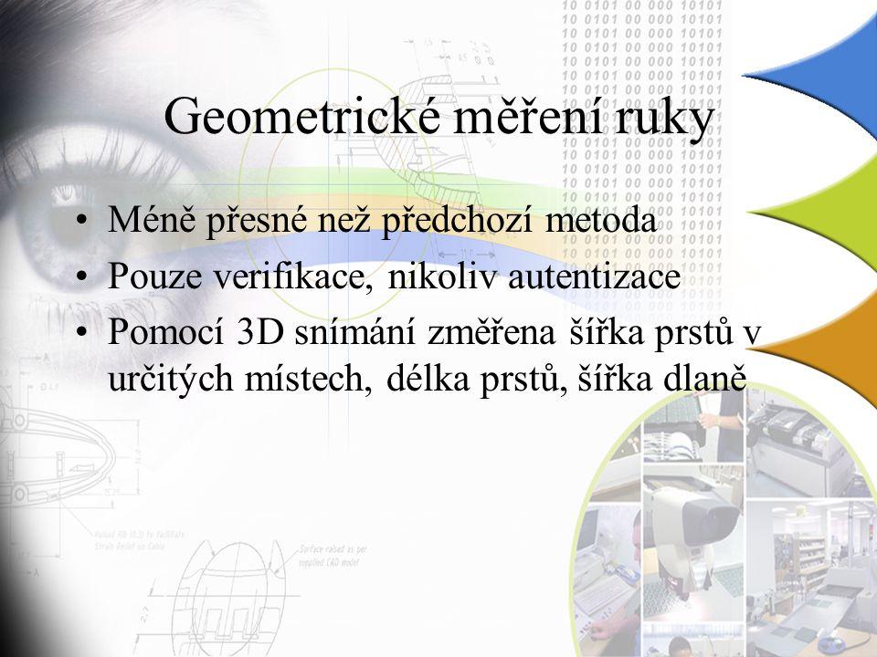Geometrické měření ruky