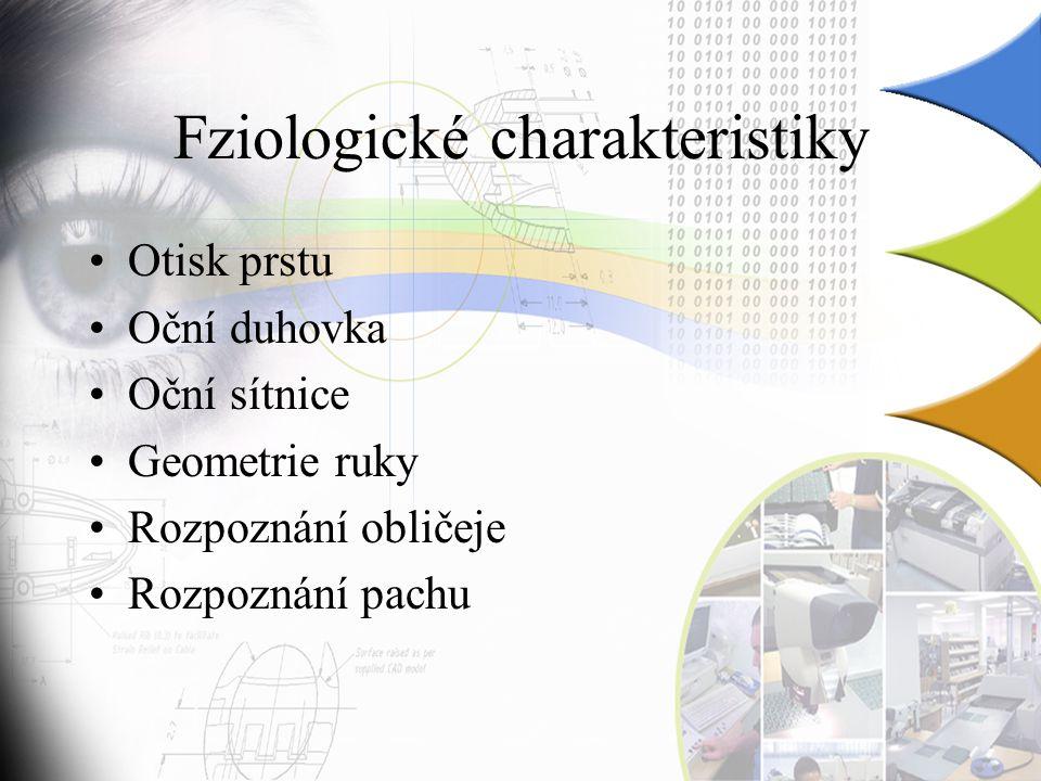 Fziologické charakteristiky
