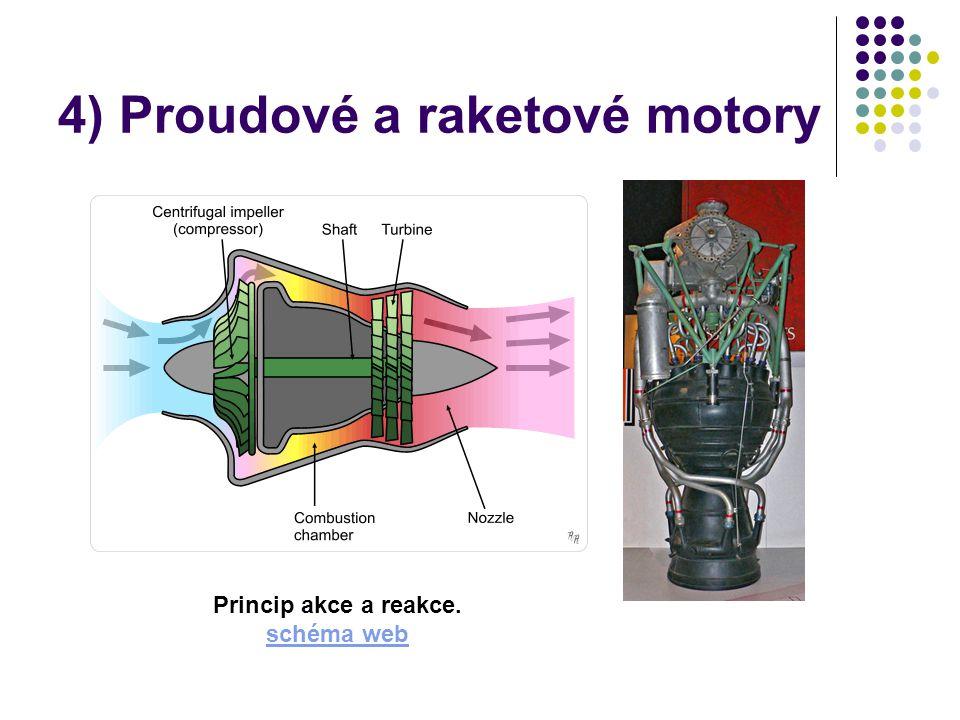4) Proudové a raketové motory