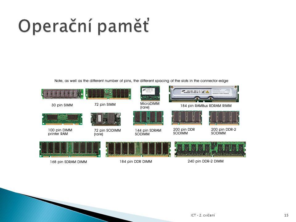 Operační paměť ICT - 2. cvičení