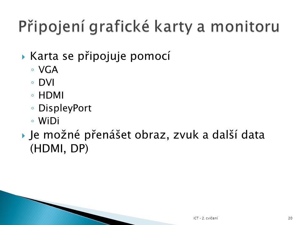 Připojení grafické karty a monitoru