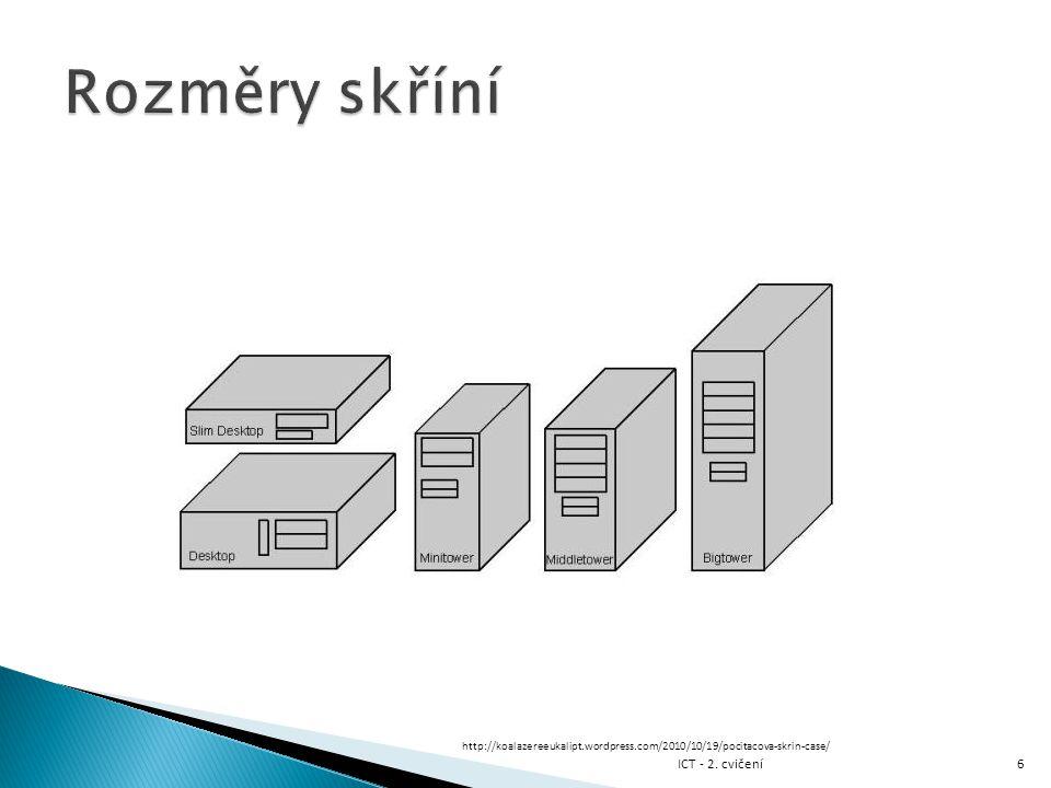 Rozměry skříní ICT - 2. cvičení