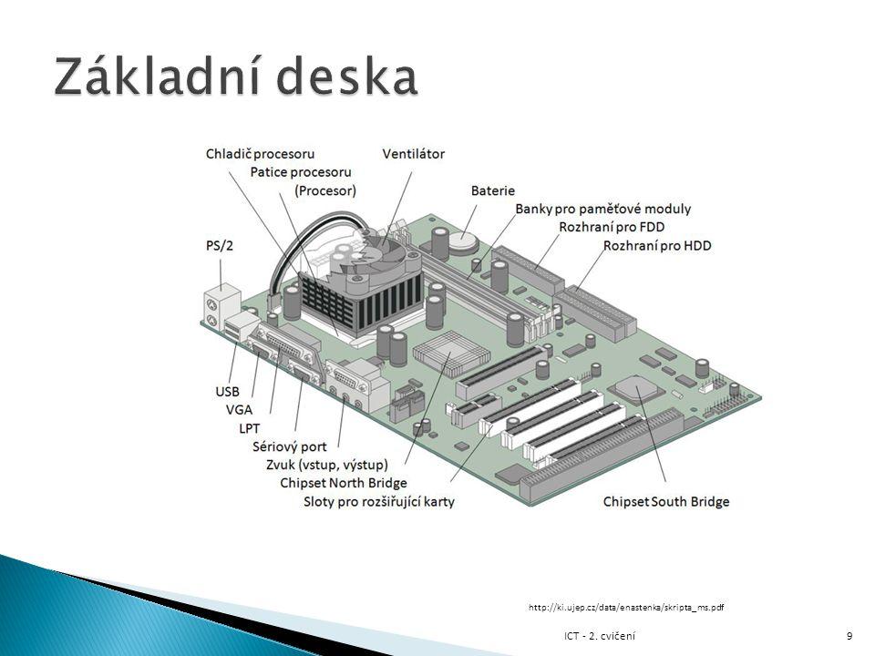 Základní deska ICT - 2. cvičení