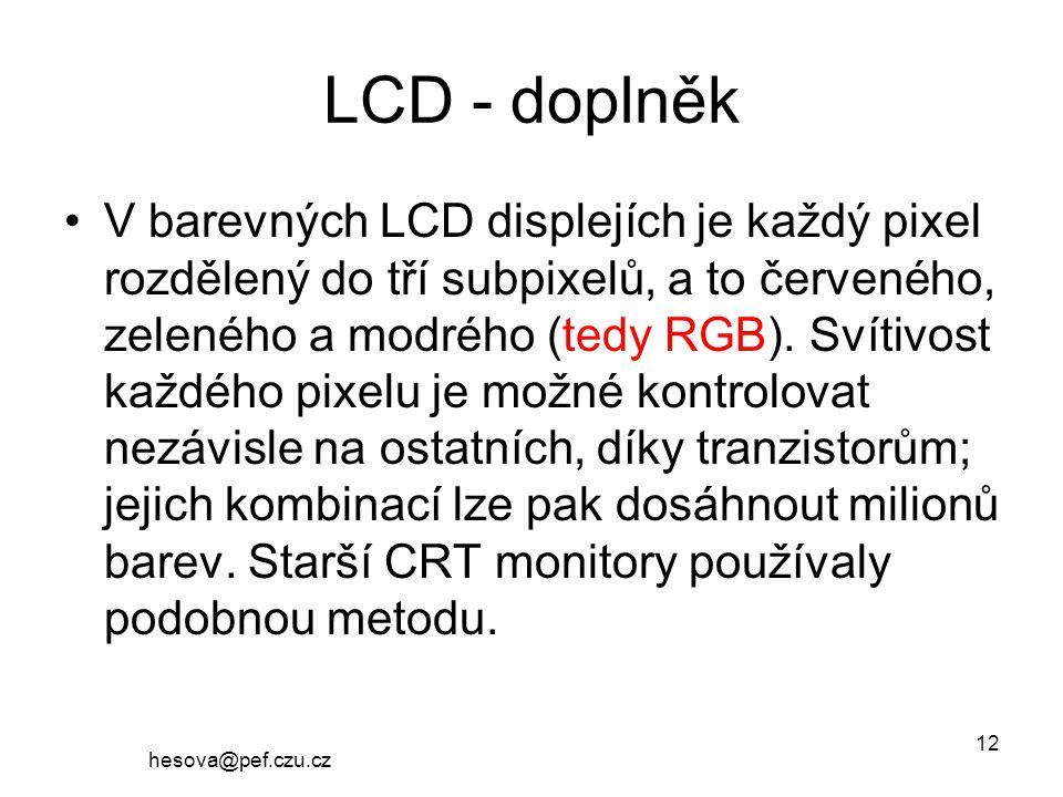 LCD - doplněk