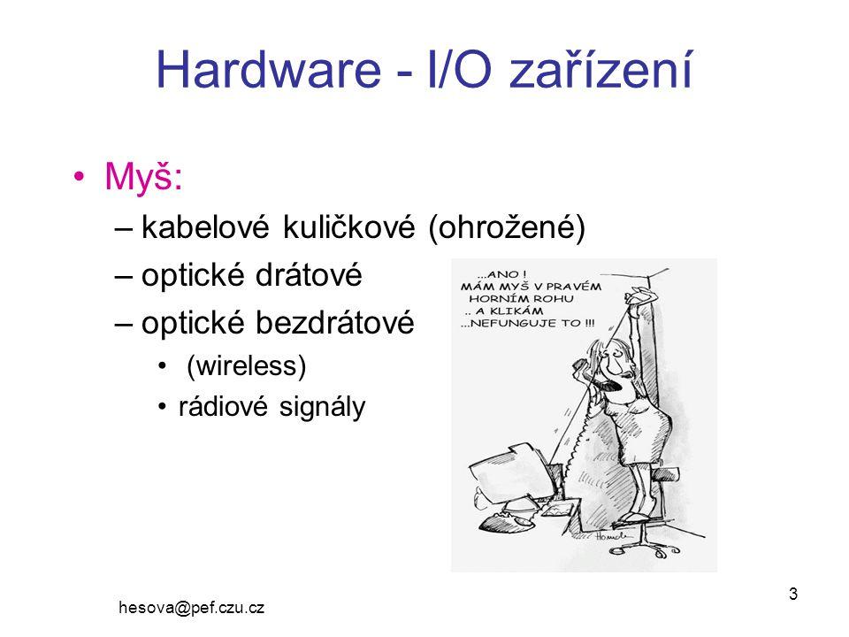 Hardware - I/O zařízení