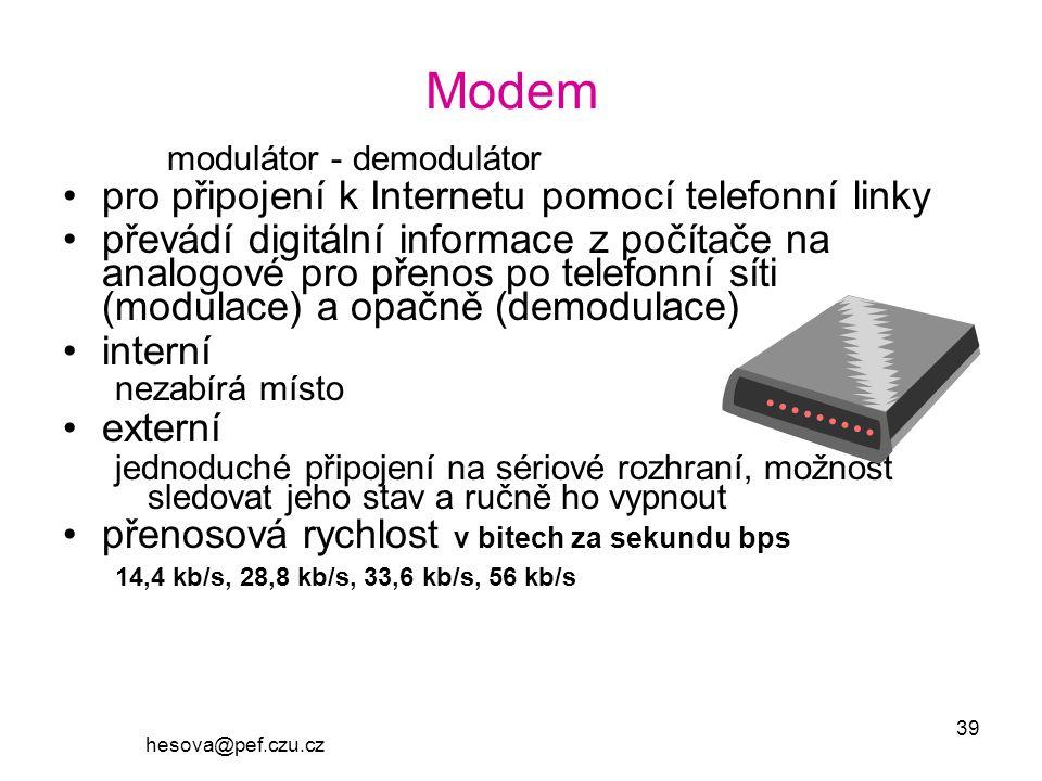 Modem modulátor - demodulátor