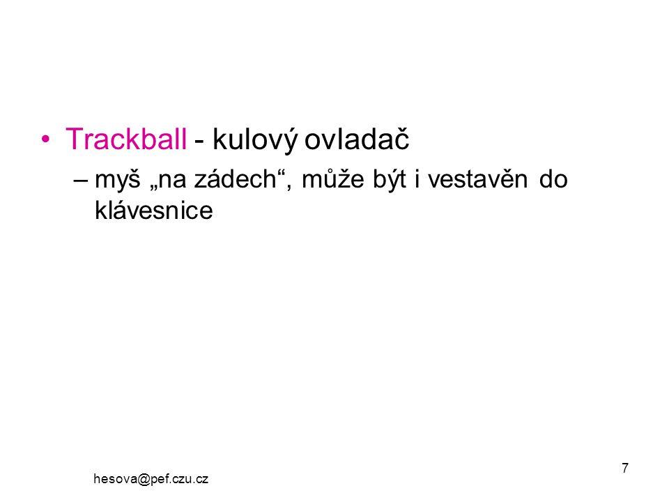 Trackball - kulový ovladač