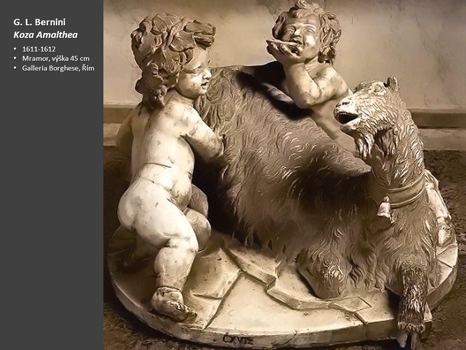 G. L. Bernini Koza Amalthea 1611-1612 Mramor, výška 45 cm