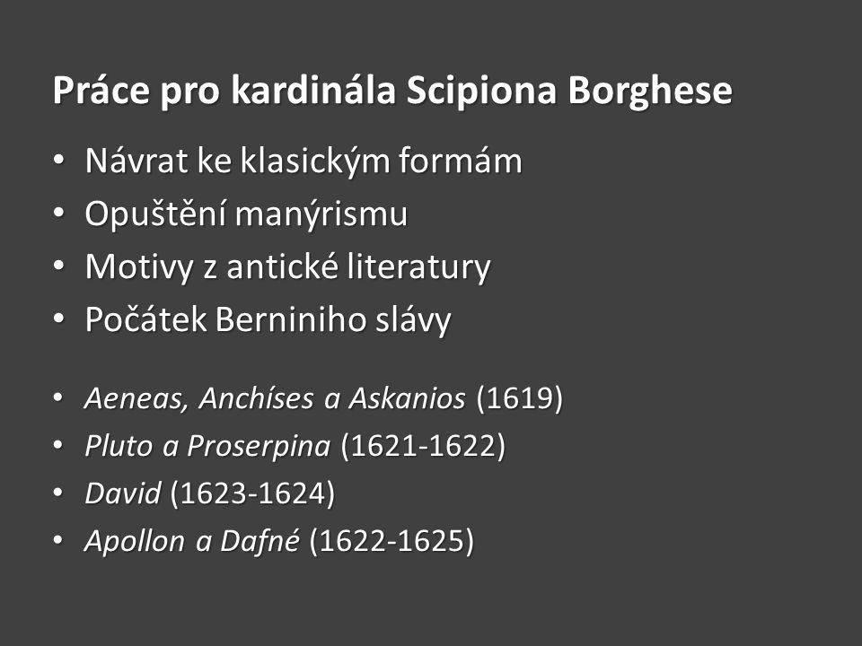 Práce pro kardinála Scipiona Borghese