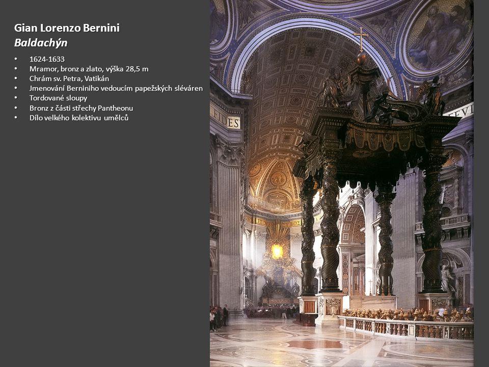 Gian Lorenzo Bernini Baldachýn 1624-1633