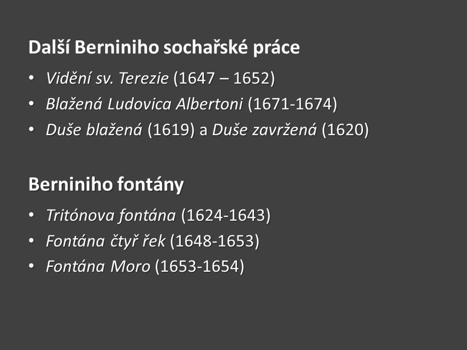 Další Berniniho sochařské práce