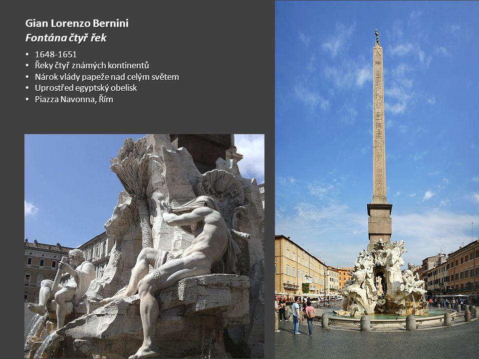 Gian Lorenzo Bernini Fontána čtyř řek 1648-1651