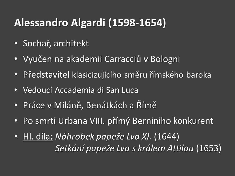 Alessandro Algardi (1598-1654)