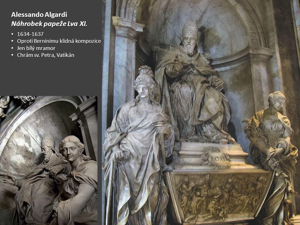 Alessando Algardi Náhrobek papeže Lva XI. 1634-1637